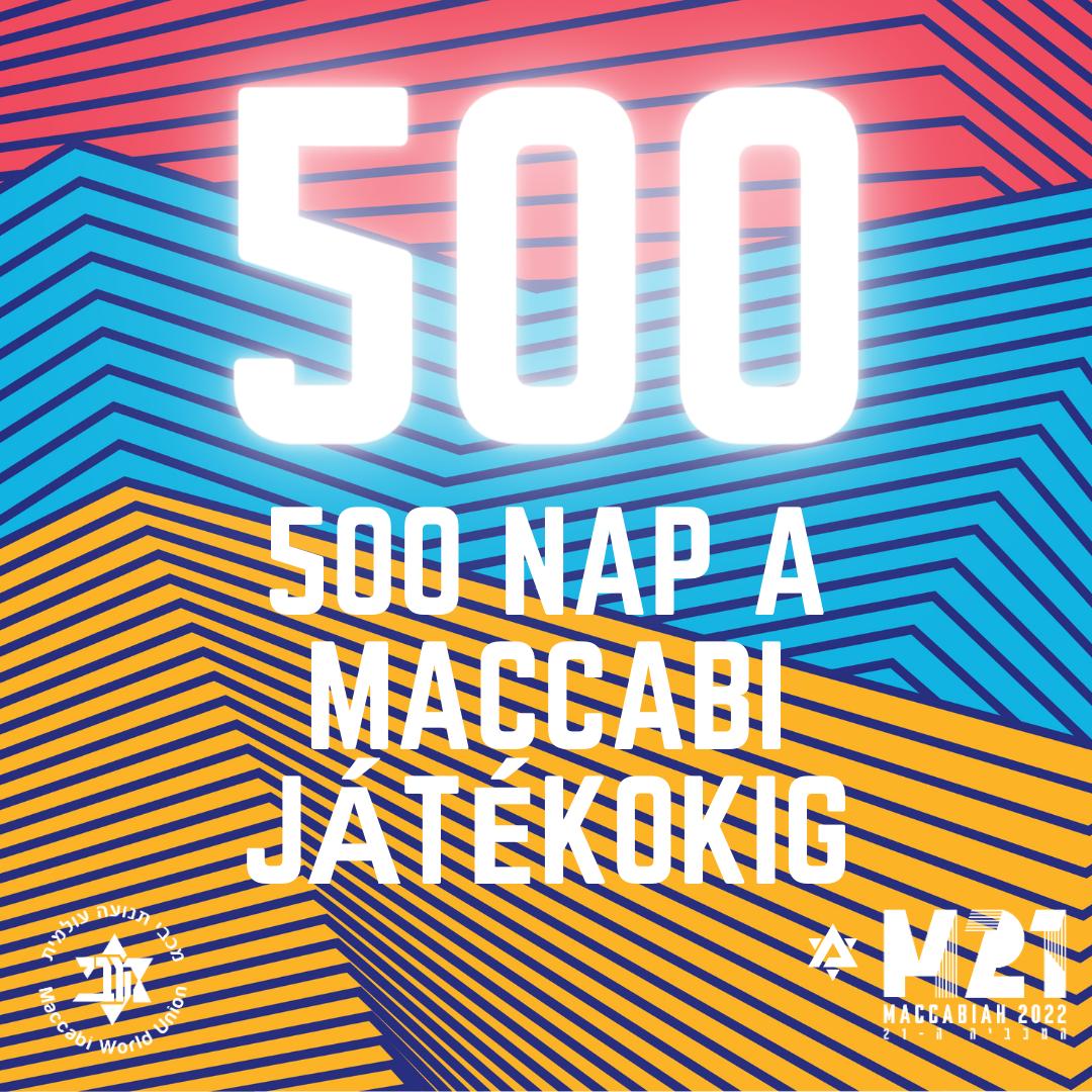 500 nap a Maccabi játékokig